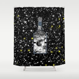 Spaced Rum Shower Curtain