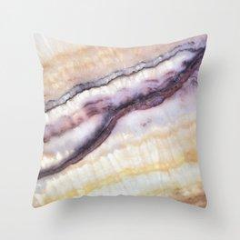 Striated Geod Throw Pillow
