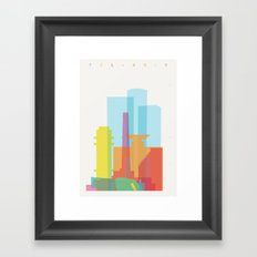 Shapes of Tel Aviv Framed Art Print