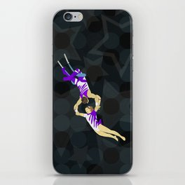 Flying Trapeze Circus Performance iPhone Skin