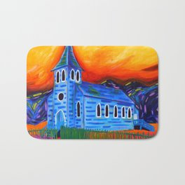 Churchly Blues Bath Mat