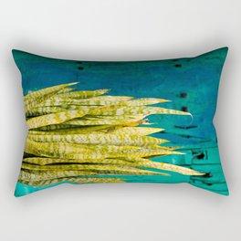 Blue Green Gran Canaria Colors Rectangular Pillow