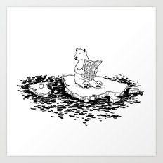 Polar Bear Monday Art Print