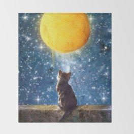 A Yarn of Moon Throw Blanket
