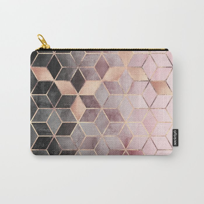 Pink And Grey Gradient Cubes Tasche