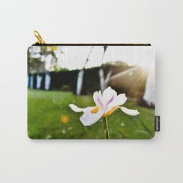 White Flower under the Sun Carry-All Pouch