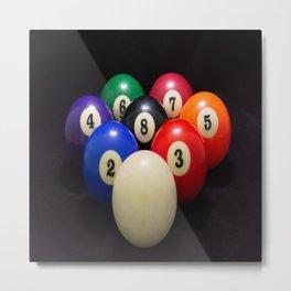 8 Ball Metal Print