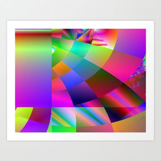 It's a Square World Art Print
