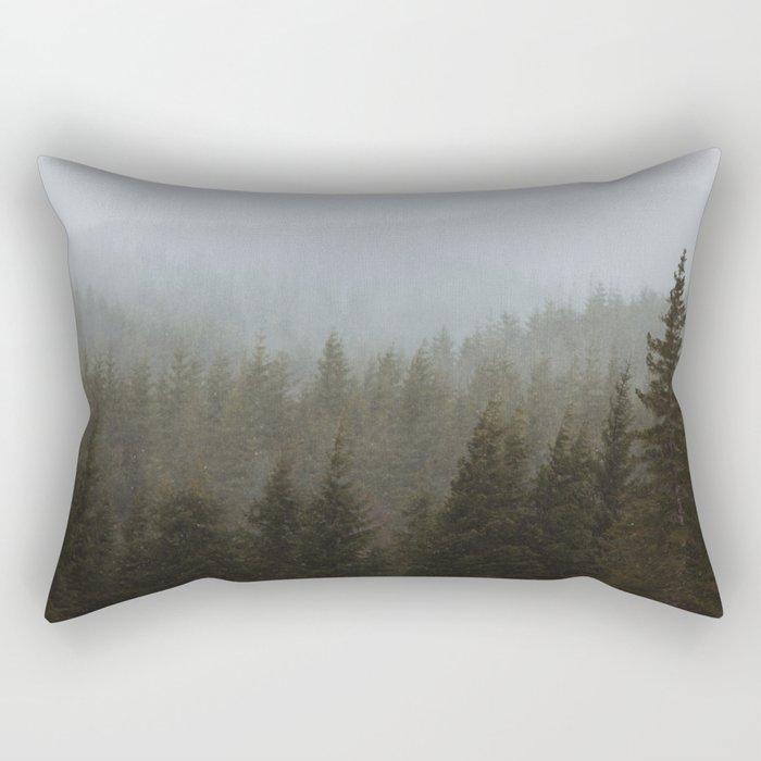 Snowy Forks Forest Rectangular Pillow