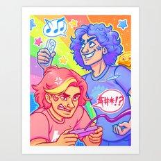 Rainbow Grumps Art Print