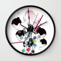 bubbles Wall Clocks featuring Bubbles by Stéphanie Brusick / Art by shop
