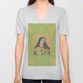 Virgin Mary Unisex V-Neck