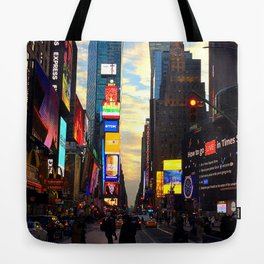 Times Square at Sunset Tote Bag