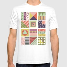 Patternz White Mens Fitted Tee MEDIUM