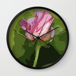 One Candy Cane Wall Clock