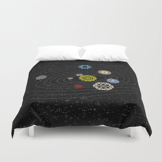 Mandala Solar Sistem Duvet Cover