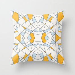 Abstract Retro Colored Church Window Throw Pillow