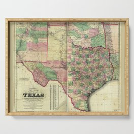 Colton's Map of Texas (1872) Serving Tray