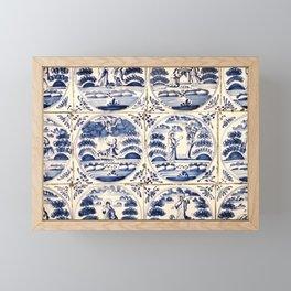Dutch Delft Blue Tiles Framed Mini Art Print