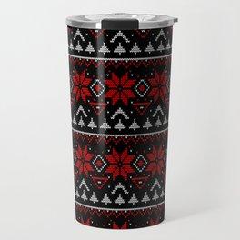 Scandinavian, knitting Travel Mug