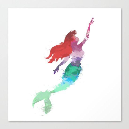 Ariel Little Mermaid Canvas Print