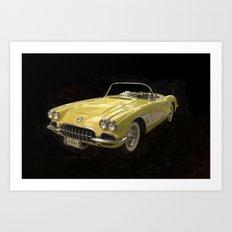 Classic Corvette Art Print