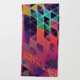 synthstar retro:80 Beach Towel