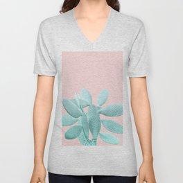 Blush Cacti Vibes #1 #plant #decor #art #society6 Unisex V-Neck
