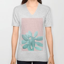 Blush Cacti Vibes #1 #plant #decor #art #society6 Unisex V-Neck