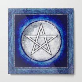 Moon Pentagram Metal Print
