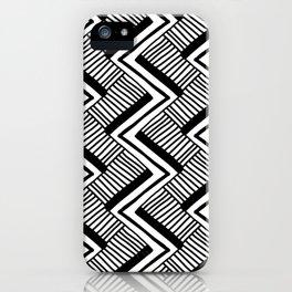 Zig-Zag Black & White iPhone Case