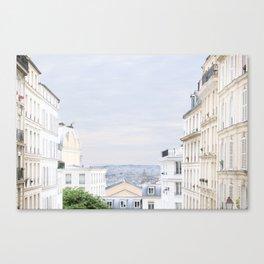 Urban landscape from Paris Canvas Print