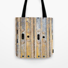 Rusty excavator caterpillar Tote Bag