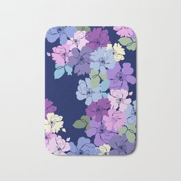 Blue Poppy Toss Bath Mat