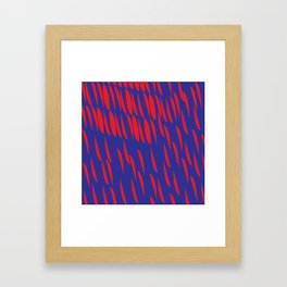 BLUE AND RED Framed Art Print