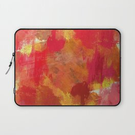 Fight Fire With Fire - Textured Metallic Abstract in red, white, black, orange and yellow Laptop Sleeve