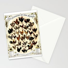The Poultry of the World Stationery Cards