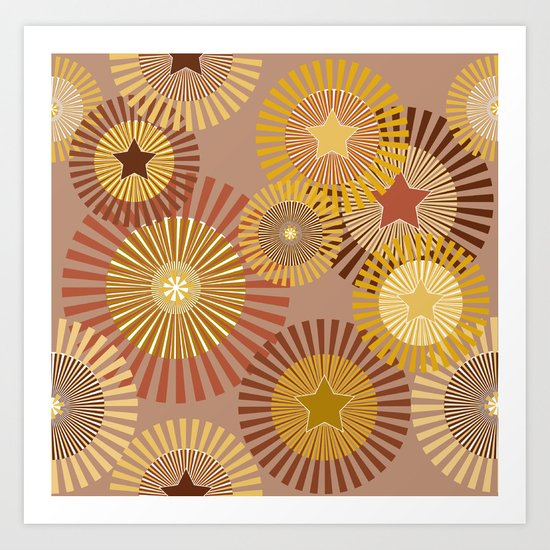 Sunflower Starflower Art Print