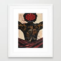 django Framed Art Prints featuring Django by C.R.ILLUSTRATION