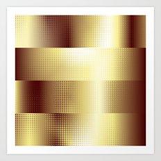 Copper Pattern Art Print