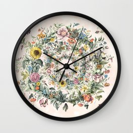 Circle of life- floral Wall Clock
