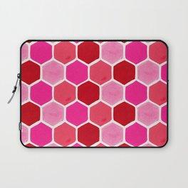Hexagon Honeycomb Pattern – Valentine Palette Laptop Sleeve