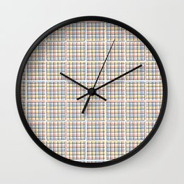 Criss Cross Weave Hand Drawn Vector Pattern Background Wall Clock