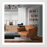 read Art Prints featuring Read by JuniqueStudio