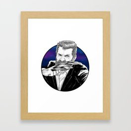 Old man Logan no.02(Hugh jackman) Framed Art Print