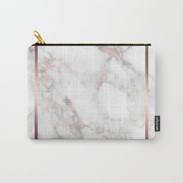 Luxury Rose-gold Faux Marble Carry-All Pouch