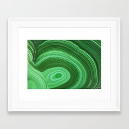 Green Agate Framed Art Print