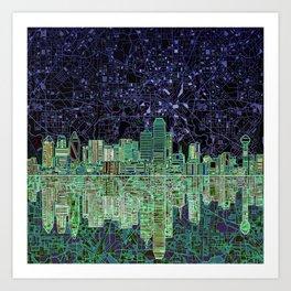 Dallas city skyline Art Print