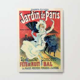 1890 Jardin De Paris Night Party Metal Print