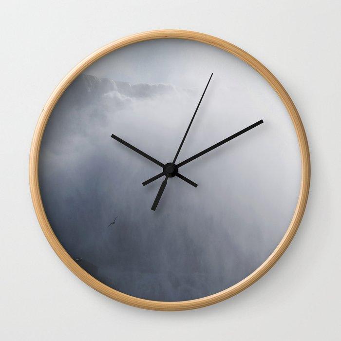 From below where all the water falls, Niagara 02 Wall Clock